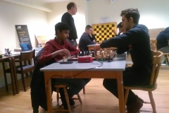 Isam - Vijay. I bakgrunden skymtar tävlingsledaren Eric Nordin.